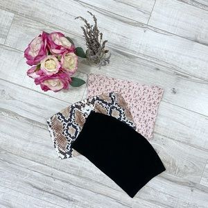Garage Pretty Little Thing Bundle of 3 Band Tops M